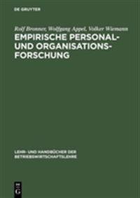 Empirische Personal- Und Organisationsforschung