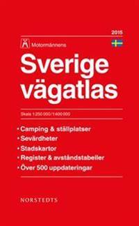 Sverige vägatlas 2015 Motormännen : 1:250000-1:400000