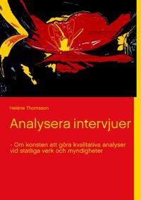 Analysera intervjuer - Om konsten att göra kvalitativa analyser vid statliga verk och myndigheter