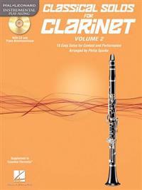 Classical Solos for Clarinet, Vol. 2: 15 Easy Solos for Contest and Performance
