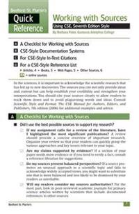 Working with Sources Using CSE, Seventh Edition Style