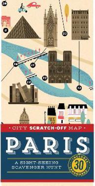 City Scratch-Off Map: Paris