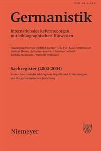 Germanistik, Sachregister 2000-2004