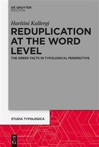 Reduplication at the Word Level
