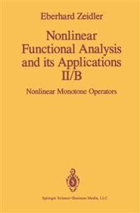 Nonlinear Functional Analysis and Its Applications