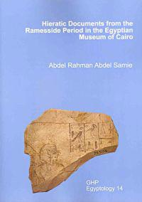 Hieratic Documents from the Ramesside Period in the Egyptian Museum of Cairo