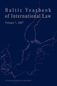 Baltic Yearbook of International Law 2007