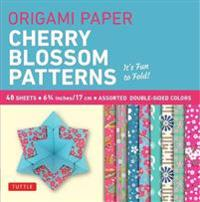 Cherry Blossoms Patterns Origami Paper