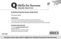 Q: Skills for Success Access Code Card