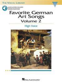 Favorite German Art Songs: Volume 2: High Voice [With CD]