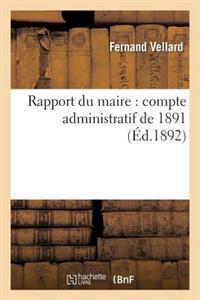 Rapport Du Maire