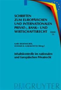 Inhaltskontrolle Im Nationalen Und Europ ischen Privatrecht