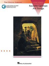 Favorite German Art Songs: Low Voice - Book/Online Audio: The Vocal Library Low Voice