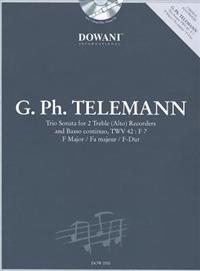 Telemann: Trio Sonata in F Major for 2 Treble (Alto) Recorders and Basso Continuo Twv42: F7 [With CD (Audio)]