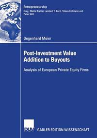 Post-Investment Value Addition to Buyouts