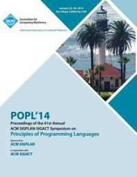 Popl 2014 - 41st ACM Sigplan Sigact Symposium on Principles of Programming Languages