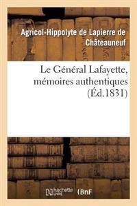 Le General Lafayette, Memoires Authentiques