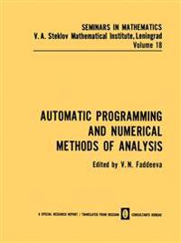 Automatic Programming and Numerical Methods of Analysis