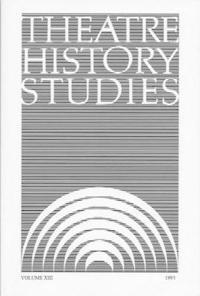 Theatre History Studies 1993