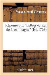 Reponse Aux Lettres Ecrites de La Campagne