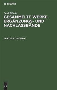 Berliner Vorlesungen II 1920-1924