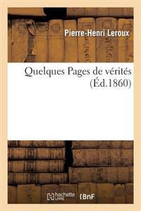Quelques Pages de V�rit�s