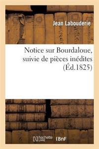Notice Sur Bourdaloue, Suivie de Pieces Inedites