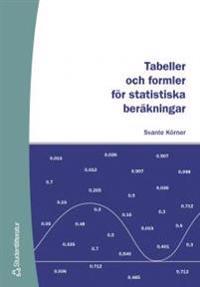 Tabeller och formler för statistiska beräkningar