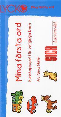 Lycko. Mina första ord   kunskapsspel för vetgiriga barn - Nina Melin - böcker (9789177622314)     Bokhandel