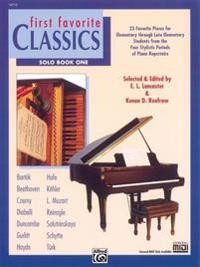 First Favorite Classics, Bk 1: Solo