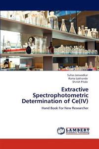 Extractive Spectrophotometric Determination of Ce(iv)