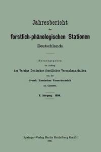 Jahresbericht Der Forstlich-Phanologischen Stationen Deutschlands