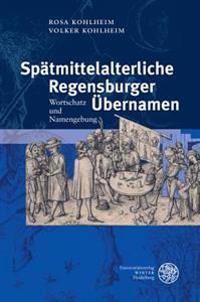Spatmittelalterliche Regensburger Ubernamen: Wortschatz Und Namengebung