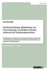 Schulentwicklung. Manahmen Zur Unterstutzung Von Berliner Schulen Wahrend Der Schulstrukturreform