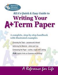 Writing Your A+ Term Paper