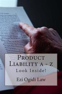 Product Liability a - Z: Look Inside!