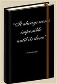 Anteckningsbok citat Nelson Mandela
