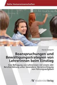 Beanspruchungen Und Bewaltigungsstrategien Von Lehrerinnen Beim Einstieg
