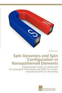 Spin Dynamics and Spin Configuration in Nanopatterned Elements