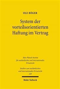 System Der Vorteilsorientierten Haftung Im Vertrag