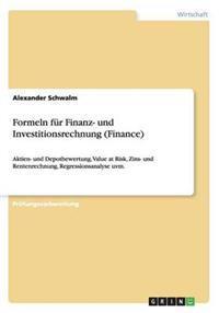 Formeln Fur Finanz- Und Investitionsrechnung (Finance)