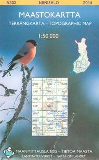 Maastokartta N333 Niinisalo 1 50 000 Kirjat Kartta Viikattu