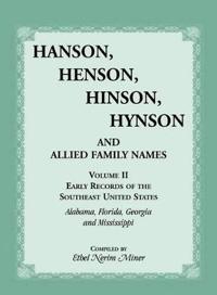 Hanson, Henson, Hinson, Hynson
