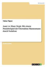 Asset vs. Share Deals. Mit Einem Praxisbeispiel Der Ubernahme Mannesmann Durch Vodafone