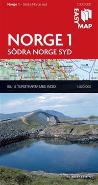 Södra Norge syd EasyMap : 1:330000