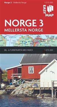 Mellersta Norge EasyMap : 1:275000