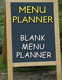 Menu Planner: Blank Menu Planner