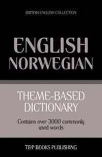 Theme-Based Dictionary British English-Norwegian - 3000 Words