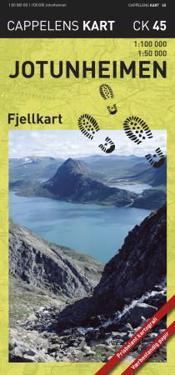 Jotunheimen Fjellkart CK45 : 1:50000-1:100000