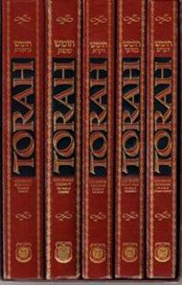 Torah Chumash 5-Volume Set in Slip-Case: With an Interpolated English Translation and Commentary Based on the Works of the Lubavitcher Rebbe.